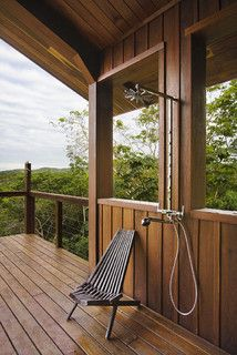 Belize Residence: Outdoor Shower - tropical - bathroom - other metro - by Robert Granoff