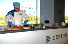 The chef Chakall becomes the main character of #MMOpen most dynamic and funniest showcooking at Dekton stand.