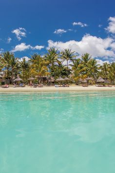 Views of Mauritius from the turquoise blue waters of the Indian Ocean