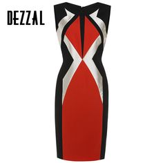 DEZZAL Summer 2016 Sexy Night Club Dress Women High Quality Bandage Sleeveless Party Dresses Patchwork Slim Tight Mini Dress *** Learn more by visiting the image link.