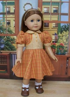 Orange and gold School frock for Emily | Flickr - Photo Sharing!