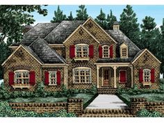 Eplans French Country House Plan - Rear Windows and Deck Let the Outside In - 3615 Square Feet and 4 Bedrooms(s) from Eplans - House Plan Code HWEPL13992