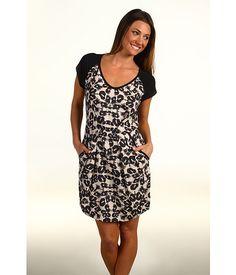 Rebecca Taylor Kaleidoscope Leopard dress
