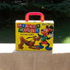 Vintage Disney Mickey Mouse Picture Cube Puzzle in Carrying Case, Made in Germany, Vintage Toy Blocks, Disney Collectible, Vintage Gifts Mickey Mouse Pictures, Walt Disney Pictures, Retro Toys, Vintage Toys, Vintage Games, Picture Cube, Hot Dog Cart, Cube Puzzle, Picture Puzzles
