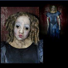 Creepy Ooak Reborn Horror Gothic Golden Clown Doll