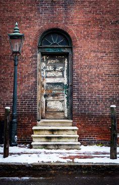Philadelphia, Pennsylvania - A typical colonial door in Old City Philadelphia