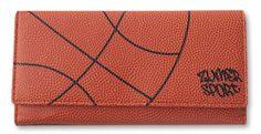 Zumer Sport Basketball Women's Wallet Made From Real Basketball Material #zumersport #basketballwallet #basketball #wallet #womenswallet