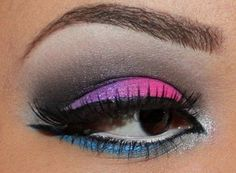 Bright pink violet and blue