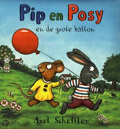 Pip and Posy - The Big Balloon. Pip is very proud of his big red balloon. But when he lets the balloon go and it pops, he is inconsolable. Luckily, Posy has a clever idea to cheer up her friend and soon they are having fun again! Big Balloons, Red Balloon, Axel Scheffler, Drawing Competition, Wooden Bicycle, Purple Cow, The Gruffalo, Cheer Up, Toddler Preschool