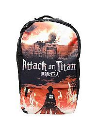HOTTOPIC.COM - Attack On Titan Key Art Backpack