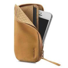 Incase Leather Zip Wallet iPhone Case
