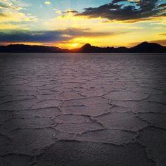 Our natural sky show rivals actual fireworks. #VisitSaltLake #SaltFlats #Sunset #salt