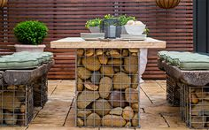 How to build a gabion table setting https://au.lifestyle.yahoo.com/better-homes-gardens/diy/h/25396179/how-to-build-a-gabion-table-setting/