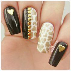 Heart nails!  #nail #nails #nailart #naildesign #nailpolish #nailstagram #manicure #mani #neglelakk #manikyr #instanails #nagellack #nailspiration #notd #nailsoftheday #cutenails #cutemani #nails2inspire #nailartaddict #nailsofinstagram