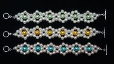 Cool Beaded bracelets-floral design -Which one do you like