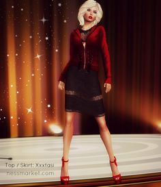 SL Freebies Blog The skirt and top are a free group gift from Xxxtasi. The gift includes classic layers, an omega HUD and a TMP installer...