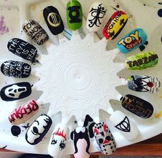 Nail art designs of a wide variety of film & tv shows!