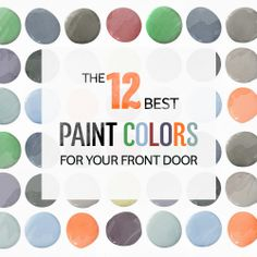 Designer-recommended paint colors for your front door