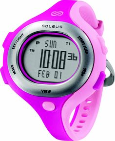 Soleus Running Watch - Chicked - Super Pink / Shy Pink / Silver