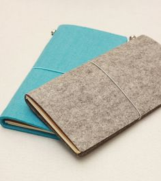 Refillable Felt Journal MIDORI Traveler's Notebook door PapergeekMY, $23.00
