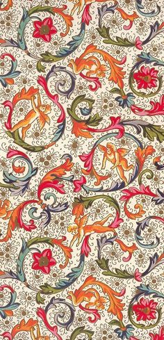 My favorite design of all time! I have two rolls of this and refuse to use it. Traditional Florentine Christmas paper from Italy, perfect for crafting or decoupage Textile Patterns, Textile Design, Print Patterns, Textile Prints, Textiles, Pattern Paper, Pattern Art, Pattern Design, Italian Pattern