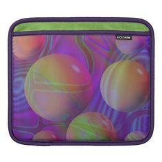 Inner Flow V Abstract Fractal Violet Indigo Galaxy iPad Sleeve
