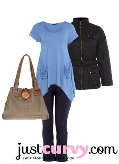 For a Casual Day Outfit www.justcurvy.com is the place to go. #plussize #trends #fashion #curvy