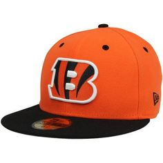 NFL Cincinnati Bengals Two Tone 59Fifty Fitted Cap by New Era. $12.92. Show Your Team Spirit with This National Football League 2Tone 59Fifty Fitted Cap. Features An Embroidered (Raised) Team Logo At Front, A Stitched New Era Flag At Wearer'S Left Side. Interior Includes Branded Taping and A Moisture Absorbing Sweatband. Fitted, Closed Back.