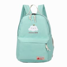 11.36$  Buy here - Cute Girl Clouds Pattern Printing Women Backpacks 6 Colors Fashion Traveling Pratical School Bags Unique Fashion Canvas Backpack  #buyonline
