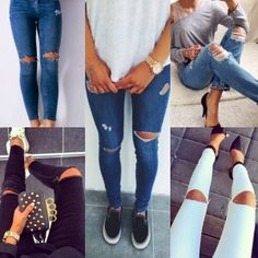 TUTORIAL | How to Make Ripped Jeans #diy #craft #jeans #tutorial ...