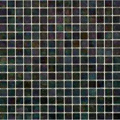 Elida Ceramica 13-in x 13-in Glass Mosaic Oiled Crystal Glass Wall Tile