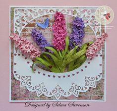 Happy Mother's Day to all you mothers. I hope you have a wonderful day. I created different colors of Susan's Garden Notes Hyacint...