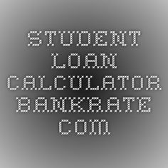 loan calculator student loan pay off