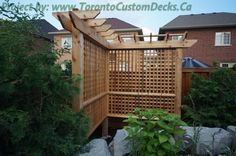 Driveway paving with interlock pool deck and pergola - Toronto Custom deck design, pergolas, fences, outdoor kitchens, landscaping & interlocking Pergola Canopy, Pergola Swing, Pergola With Roof, Cheap Pergola, Outdoor Pergola, Pergola Shade, Pergola Plans, Diy Pergola, Pergola Kits