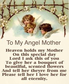Beautiful words for a mom in heaven. I Miss My Mom, Love You Mom, Love The Lord, Mom And Dad, Love Her, Loved One In Heaven, Heaven Quotes, Memorial Cards, Angels In Heaven