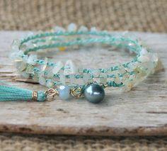Wrap Bracelet Crochet Wrap Bracelet Stacking Bracelet Opal