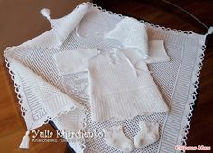 Приветствую всех жителей Мамландии!  Комплект, который я сегодня покажу, был связан на заказ еще летом для крестин новорожденного мальчугана