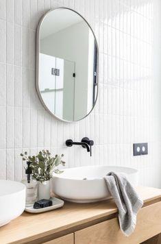 Modern Home Decor Interior Design Bathroom Renos, Laundry In Bathroom, Bathroom Faucets, Bathroom Furniture, Washroom, Rustic Furniture, Outdoor Furniture, Beautiful Bathrooms, Modern Bathroom