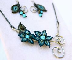 Hey, I found this really awesome Etsy listing at https://www.etsy.com/listing/290739655/macrame-necklace-and-earrings-set