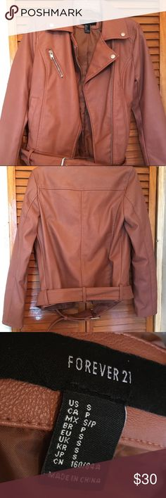 Forever 21 Moto Leather Jacket Moto style Leather Jacket. Perfect condition. Barely worn. Forever 21 Jackets & Coats