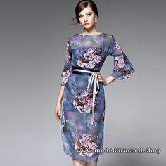 Elegantes Kleid Tosja mit Blumendruck