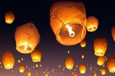 If you saw Tangled, you probably loved the scene where Rapunzel got to see in person the Chinese Lantern Festival that happened every year on her birthday. Recreate that scene for yourself with this pack of floating Chinese lanterns! So romantic.