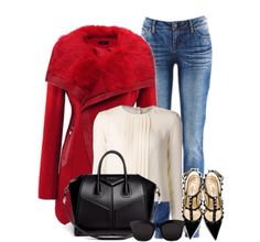 Hotttt bag and Valentino Shoes make this look