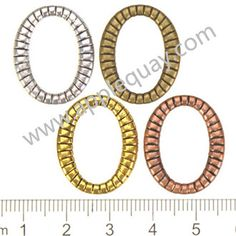 Zinc Alloy Oval Ring Beads,Textured,Cadmium And Lead Free,Various Color For Choice,Length*Width*Thick:Approx 23*19*2mm,Sold By Bags,NO 000181  Unit Price:USD 0.027 MOQ:1200 pcs Email: lichunjuan1@sina.com