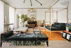use day bed set up in media room to double as a guest room  Giambattista-Valli-Paris-Apartment-Vogue-May-2014-habituallychic-004.jpg 906×618 pixels