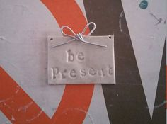 Be present pendant by QueenBeanBoutique on Etsy