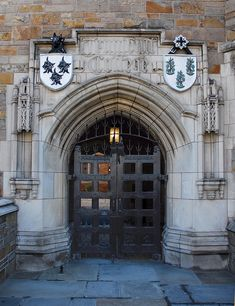 YALE UNIVERSITY  — TRUMBULL COLLEGE GATES  Yale University in New Haven, Connecticut