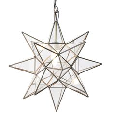 Worlds Away Star Clear Glass X-Large Chandelier