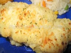 Baked Parmesan Cod - Tender flaky cod baked with a parmesan crust.