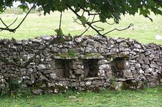 "Storage for bee skeps, built into walls from the 17th & 18th centuries to protect them from rain. These built-in cupboards were referred to as ""bee boles."" Cumbria. #beekeeping"